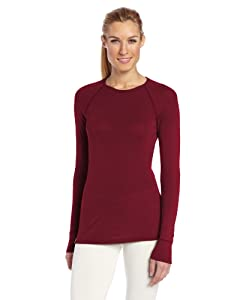 Ibex Outdoor Clothing Ladies Woolies 220 Crew Base Layer Top by Ibex