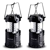 Divine-LEDs-2-Pack-Ultra-Bright-Portable-Outdoor-LED-Camping-Lantern-Black-Collapsable
