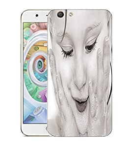 Snoogg White Baby Designer Protective Back Case Cover For OPPO F1S