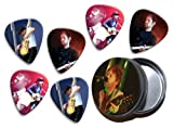 Radiohead Thom Yorke (WK) 6 X Live Performance Guitar Picks in Tin