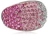 Carnevale Sterling Silver Pink Dome Swarovski Elements Ring