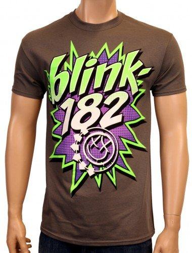 Coole-Fun-T-Shirts - T-Shirt Blink 182 Pow, T-shirt da uomo, grigio(grau), M