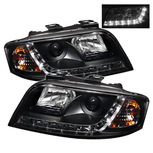 Spyder Pro-Yd-Ada601-Drl-Bk Audi A6 Drl Led Black Projector Headlights Assembly (Sold In Pairs)