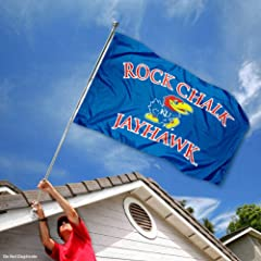 Buy Kansas Jayhawks Rock Chalk KU University Large College Flag by College Flags and Banners Co.