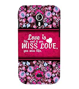 Love Is Life 3D Hard Polycarbonate Designer Back Case Cover for Micromax Canvas HD A116 :: Micromax Canvas HD Plus A116Q
