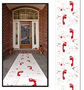Beistle Company - Halloween Bloody Footprints Runner from Beistle Company