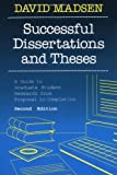 Successful Dissertations and Theses: A Guide to Graduate Student Research from Proposal to Completion (Jossey Bass Higher and Adult Education Series)