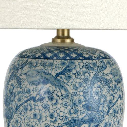 Oriental Furniture Classic Porcelain Jar Lamp, 20-Inch, Blue/White