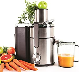 Duronic JE10 Powerful 1000W Large Feeding Tubed Whole Fruit Centrifugal Power Juicer with Jug - 2 Years Free Warranty ...