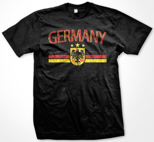 Germany Eagle Crest International Soccer T-shirt, German Soccer Mens T-shirt