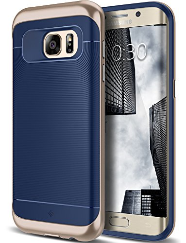 Galaxy S7 Edge Case, Caseology [Wavelength Series] Slim Ergonomic Ripple Design [Navy Blue] [Modern Grip] for Samsung Galaxy S7 Edge (2016) (Nv Phone Case compare prices)