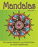 img - for Mandalas: 50 Hand Drawn Illustrations (Volume 1) book / textbook / text book
