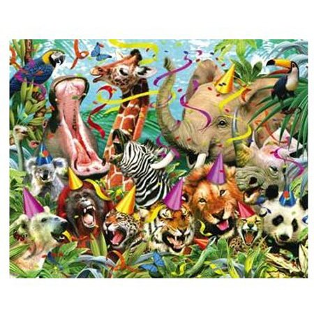 Picture of Hobbico Visual Echo 3D Effect Party Animals 3D Lenticular Puzzle 500pc S4 (B000YB8FT8) (3D Puzzles)