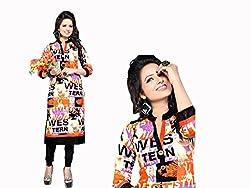 RR Fashion Women's Cotton KURTI (RRF3013_MULTICOLOUR)
