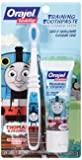 Orajel Thomas and Friends Fluoride-Free Training Toothpaste with Toothbrush, Tooty Fruity, 1.0 Ounce
