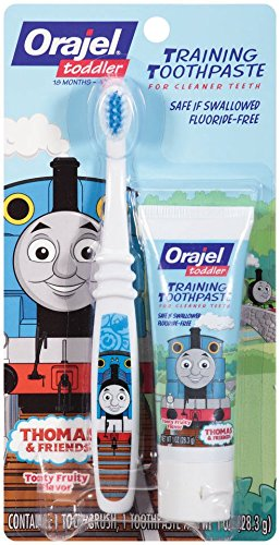 orajel-thomas-and-friends-fluoride-free-training-toothpaste-with-toothbrush-tooty-fruity-10-oz