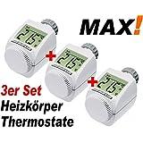 3er SET - MAX! Heizkörper Thermostat Heizregler Thermostatventil