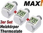 3er SET - MAX! Heizk�rper Thermostat...