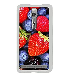 Berries and Strawberries 2D Hard Polycarbonate Designer Back Case Cover for Asus Zenfone 2 ZE551ML