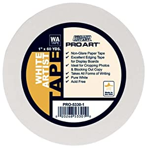 Pro Art 1/2-Inch by 60-Yards White Artist Tape