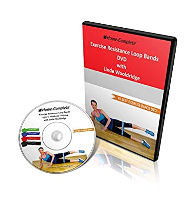 4 Exercise Resistance Loop Bands + Workout DVD Performed by Linda Wooldridge