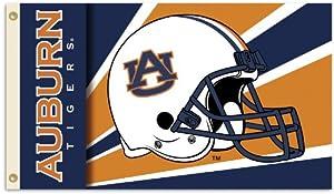 Buy NCAA Auburn Tigers 3-by-5 Foot Helmet Flag With Grommets by BSI