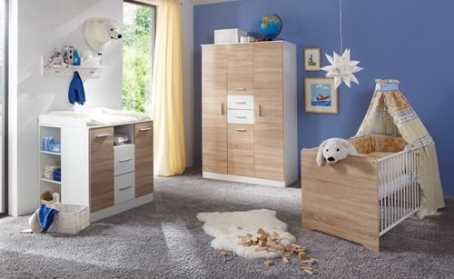 babyzimmer kinderzimmer komplett set babym bel einrichtung junge m dchen wickelkommode. Black Bedroom Furniture Sets. Home Design Ideas