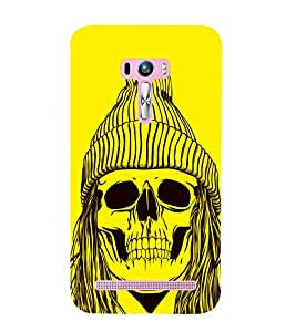 Skull with a Cap 3D Hard Polycarbonate Designer Back Case Cover for Asus Zenfone Selfie ZD551KL
