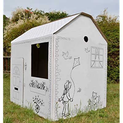 Play House - Cardboard Colour In Childs Wendy House