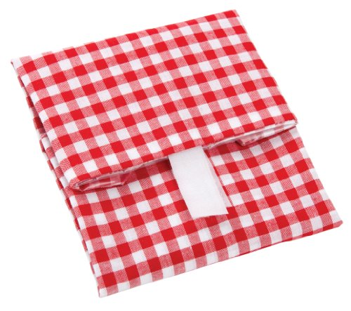 Wrap-N-Mat, Sandwich wrap, Red and White gingham, 13 by 13-inch