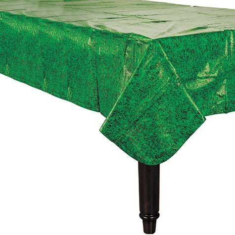 Flannel-Backed Vinyl 52in x 90in Grass Tablecover