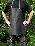 Echt Leder Grillschürze - Kochschürze - Lederschürze mit verstellbarem Nackenriemen