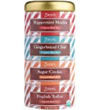 Zhena's Gypsy Organic Tea Holiday Sampler Tin, 16 Tea Sachets