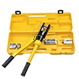 16 Ton Hydraulic Wire Crimper Crimping Tool 11 Dies Battery Cable Lug Terminal by Yescom