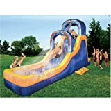 Banzai Double Drop Falls - Inflatable Bouncer with Waterslide, Splash Pool and Water Falls