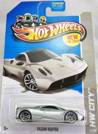 2013 Hot Wheels Hw City 9/250 - Pagani Huayra [Silver] - 1