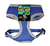 Four paws Nite Brite Large Blue Safety Comfort Dog Harness