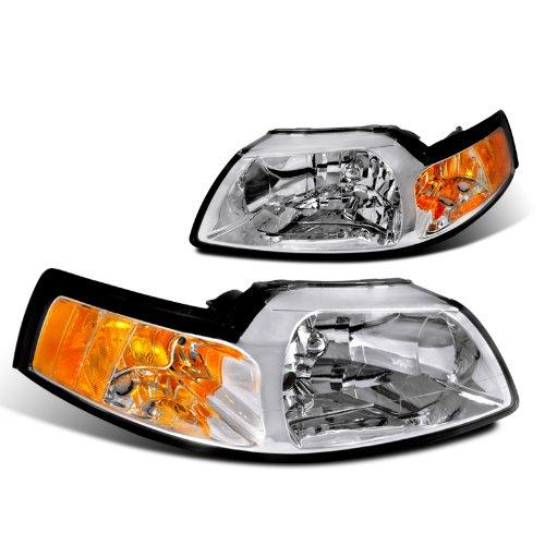 Ford Mustang Gt Base Svt Cobra Headlights W/ Corner Lights 1Pc. Chrome