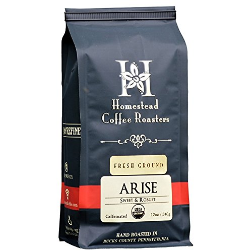 Gourmet Ground Coffee, 100% Organic by ARISE - Signature Medium Roast Blend - 12oz Bag - Colombian and Indonesian (Best Rated Coffee Beans compare prices)