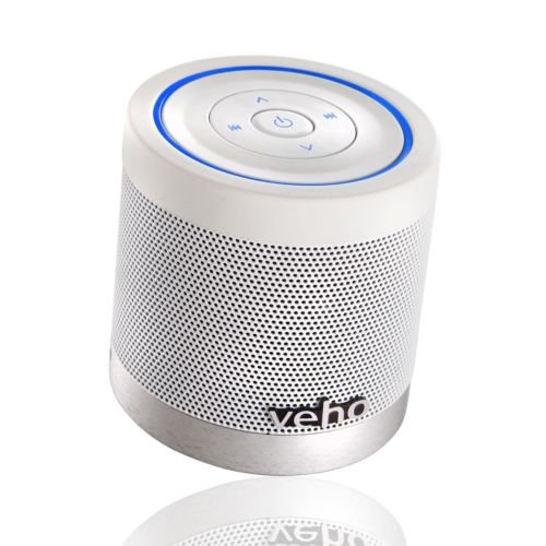 Veho Vss-747-360Bt Ice White Special Edition Portable Rechargable Wireless Bluetooth Speaker With Track Control