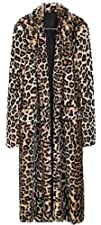 Sexy Women Leopard Rabbit Fur Coat Lo…