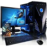 """VIBOX Ultra Package 11A - 3.8GHz Quad Core, Home, Office, Family, Desktop Gaming PC, Computer Full Package with WarThunder Game Bundle, 22"""" Monitor, Gamer Headset, Keyboard & Mouse Set and Neon LED Internal Lighting Kit PLUS a Lifetime Warranty Included* (New 3.1GHz (3.8GHz Turbo) AMD A8 Fast Quad Core APU Processor, Powerful Radeon HDIntegrated Graphics Chip, 1TB HDD Hard Drive, 8GB 1600MHz RAM, No Operating System)"""