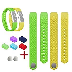 Allezola Sport Fitness Ersatzschweißband Ersatzarmband mit den kostlosen anpassenden Verschluss für Fitbit Alta (ohne Tracker, nur Band) Small, Large