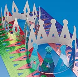 Fun Express Assorted Color Prism Crowns (1 Dozen)