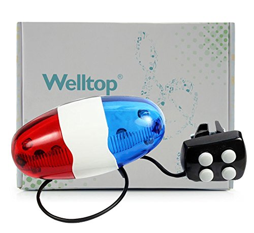 Welltop®Police Sound Light Electric Horn Siren Bike Horn Bell+Free Welltop® Corkscrew