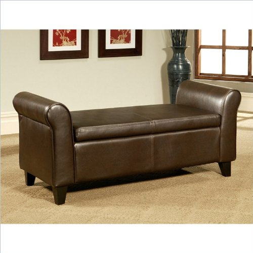 Fantastic Sale Abbyson Living Easton Bonded Leather Storage Ottoman Creativecarmelina Interior Chair Design Creativecarmelinacom