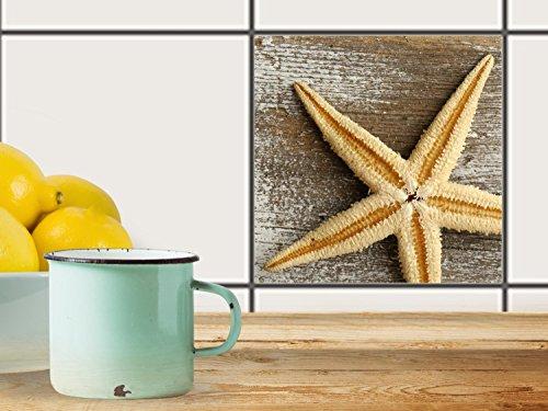 fliesenfolie selbstklebend 20x20 cm 1x1 design starfish. Black Bedroom Furniture Sets. Home Design Ideas