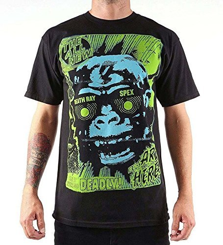 Nuovo Da Uomo Iron Fist Deathray Speciali T-Shirt Misura Extra Small XS - cotone, Nero, 100% cotone comfort.100% cottoncrew\xa0neckshort, Uomo, X-Small, Nero