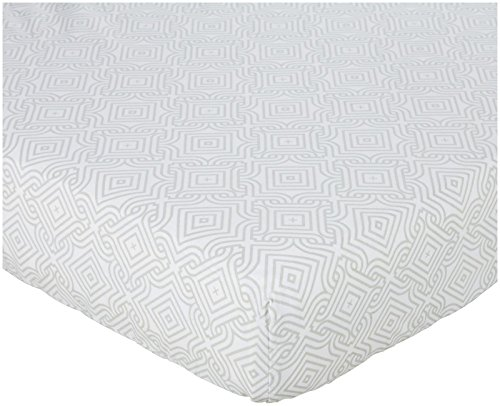 Oliver B Crib Sheet - Dove Grey Stems