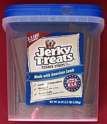 Jerky Treats Tender Strips Dog Snacks Made with American Lamb 3.5lb